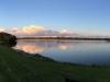 Ausblick vom Vereinsgelände (Sonnenuntergang am Nordufer)